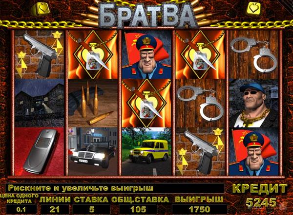 Игровой автомат Братва - уникальный слот для тех, кто скучает по 90-м