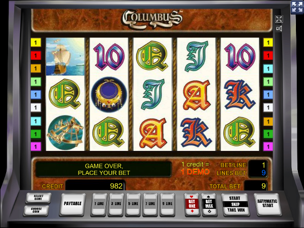 Игровой автомат Columbus - охота за сокровищами с первооткрывателем Нового Света