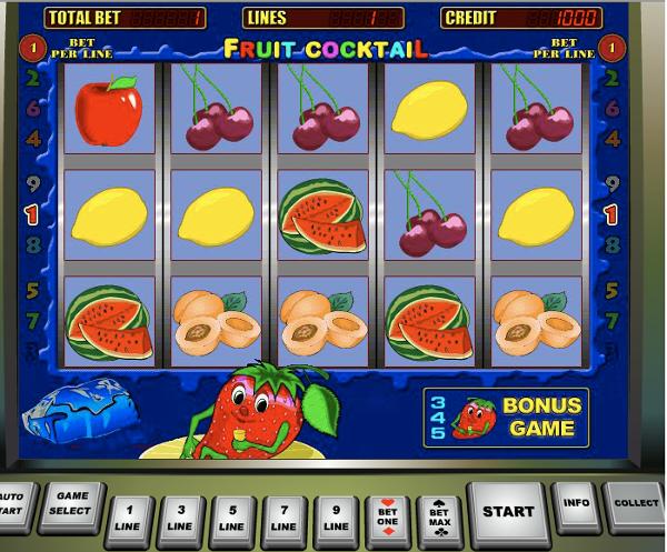 Игровой автомат Fruit Cocktail - для любителей классики